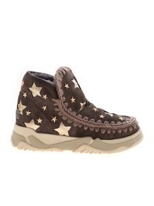 Mou - Eskimo Trainer Leather Star sneakers in grey