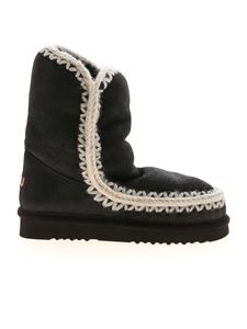 Mou - 24 With Cross Stitch ankle boots in black