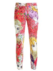 Moschino - Marie Antoinette print pants in red