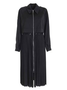 Karl Lagerfeld - Trench dress featuring pleated skirt