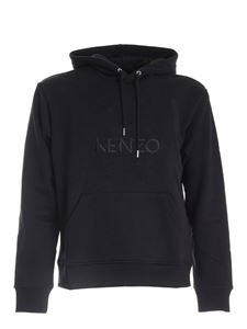 Kenzo - Hoodie with embroidered Tiger logo in black