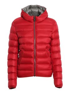 Colmar Originals - Hooded short puffer jacket in red
