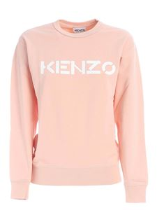 Kenzo - Sweatshirt with front logo in pink