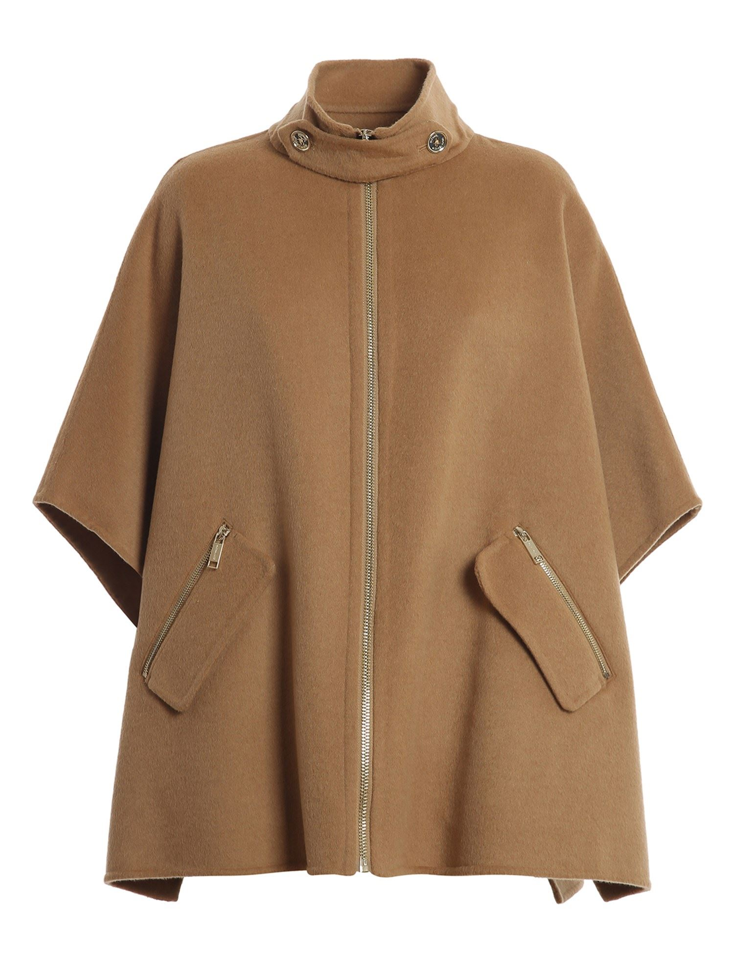 Michael Kors WOOL BLEND PONCHO IN CAMEL COLOR