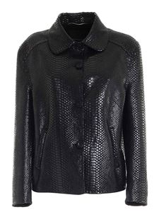 Ermanno Scervino - Reptile print jacket in black