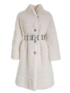 Ermanno Scervino - Single-breasted synthetic fur in white