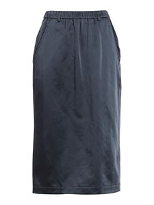 Aspesi - Satin midi skirt in blue