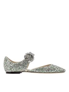 Jimmy Choo - Gin flats in green