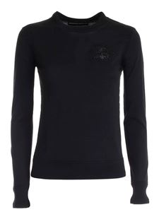 Ermanno Scervino - Pullover with rhinestones in black