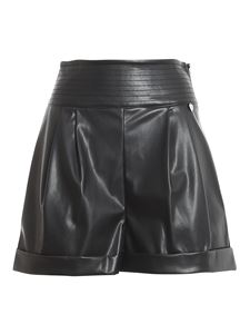 Twin-Set - Shorts in ecopelle nero