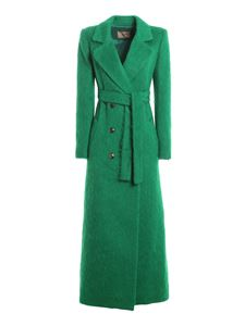 Twin-Set - Brushed wool cloth coat in green
