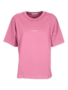 Acne Studios - Violet Pink T-shirt with logo print