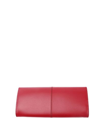 Tod's - Embossed logo wallet in red