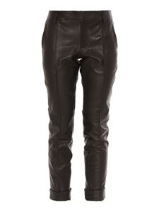 Golden Goose - Leather pants in black