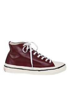 Marni - Patent leather point sneakers in red