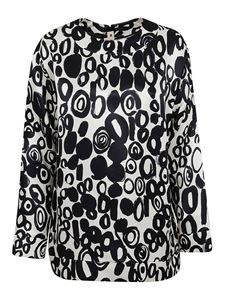 Marni - Abstract Drops viscose blouse in white