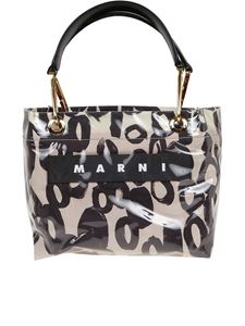Marni - Glossy Grip shopping bag in white