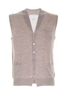 Ballantyne - Wool knitted vest in dove grey color