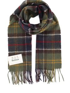 Barbour - Tartan wool and cashmere scarf in multicolored