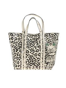 Red Valentino - Animal print shopper in ivory color