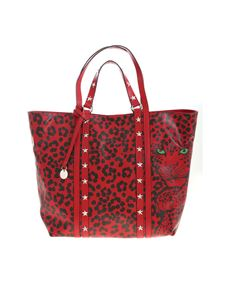 Red Valentino - Animal print shopper in red