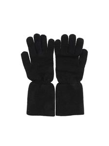 Kangra Cashmere - Black gloves featuring lamé detail