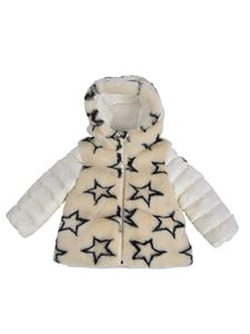 Moncler Jr - Joseline down jacket in ivory color