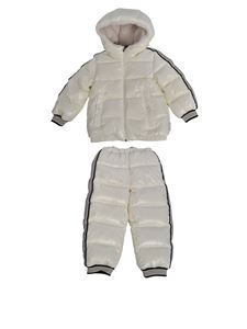 Moncler Jr - Juno tracksuit in ivory color