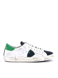 Philippe Model - Prsx leather sneakers in white