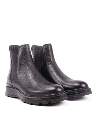 Woolrich - Leather Chelsea boots in black