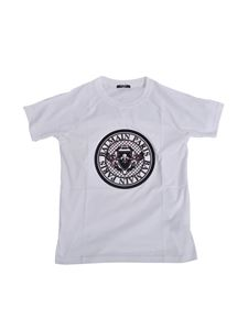Balmain - T-shirt with logo in white