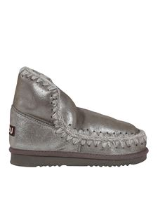 Mou - Eskimo 18 glitter detailed booties in silver color