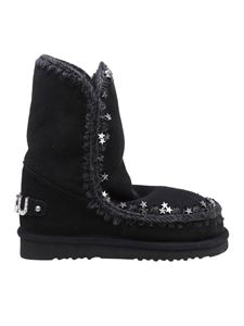 Mou - Eskimo 24 star studded booties in black