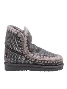 Mou - Eskimo 18 rhinestone embellished booties in grey