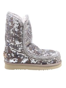 Mou - Eskimo 24 sequin embellished booties in grey