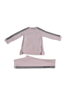 Moncler Jr - Fleece tracksuit in pink with glitter