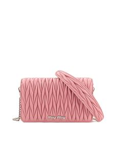 Miu Miu - Matelassé leather chain wallet bag in pink