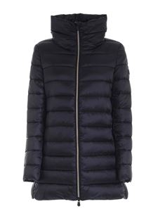 Save the duck - Black down jacket featuring crater collar
