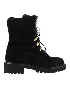 Giuseppe Zanotti - Suede ankle boots in black