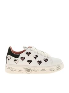 Premiata - Belle white sneakers featuring hearts