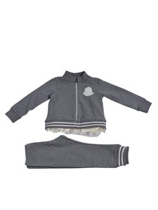 Moncler Jr - Fleece tracksuit in grey with tulle