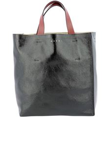 Marni - Museo Soft shopping bag in black