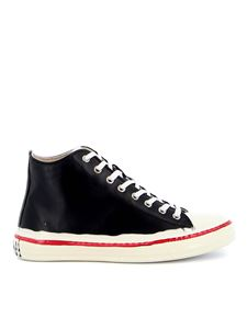 Marni - Patent leather point sneakers in black
