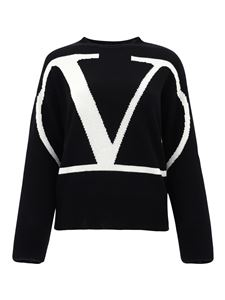 Valentino - Vlogo cashmere jumper in black