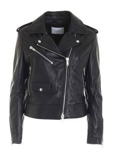 Dondup - Padded leather jacket in black