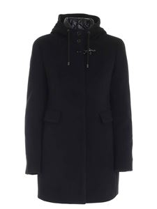 Fay - Black coat featuring down jacket