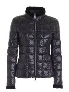 Fay - Logo patch down jacket in black