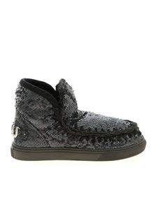 Mou - Eskimo Big Metallic Logo sneakers in anthracite