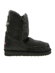 Mou - Eskimo 24 Star Patch ankle boots in black