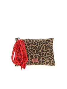 Gum Gianni Chiarini - Numbers animal print medium clutch bag